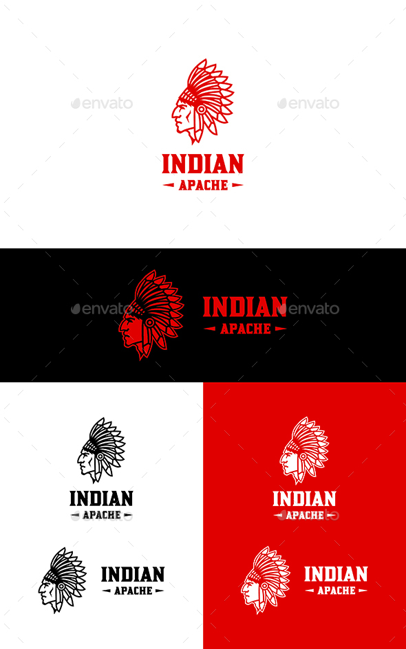 GraphicRiver Apache Indian Logo 21177887