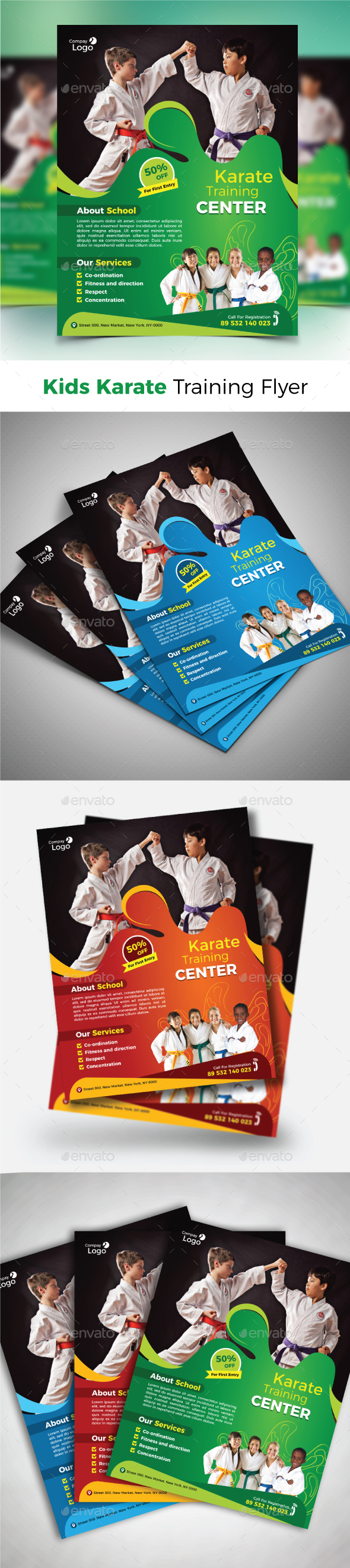 GraphicRiver Kids Karate Training Flyer 21177972
