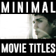 Minimal Movie Titles - VideoHive Item for Sale