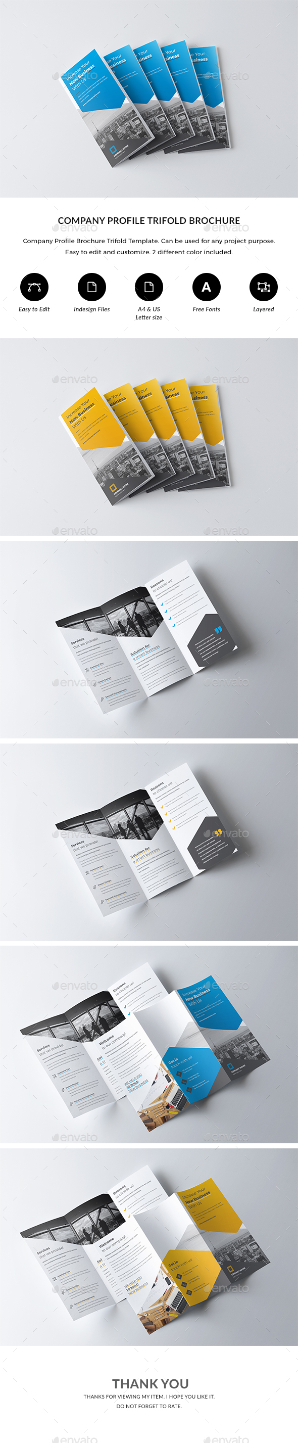 GraphicRiver Trifold Brochure Template 21178294
