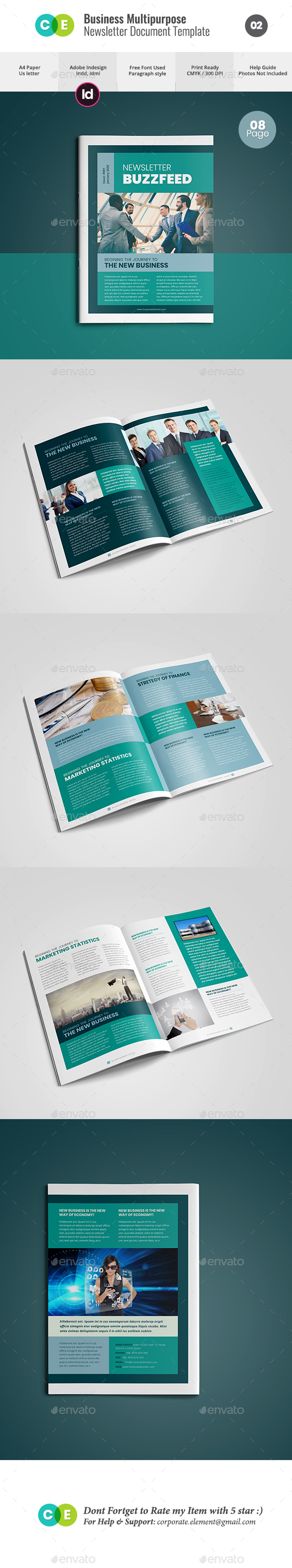 Newsletter For Multipurpose Business V02 - Newsletters Print Templates