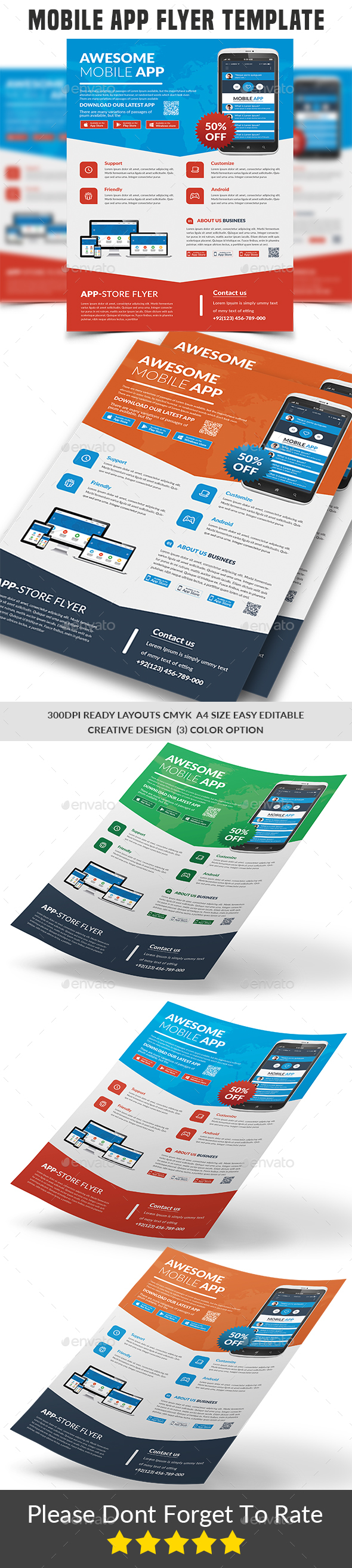 GraphicRiver Mobile App Flyer Template 21178340
