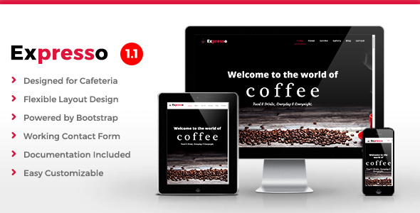 Image of Expresso - Cafe HTML Template