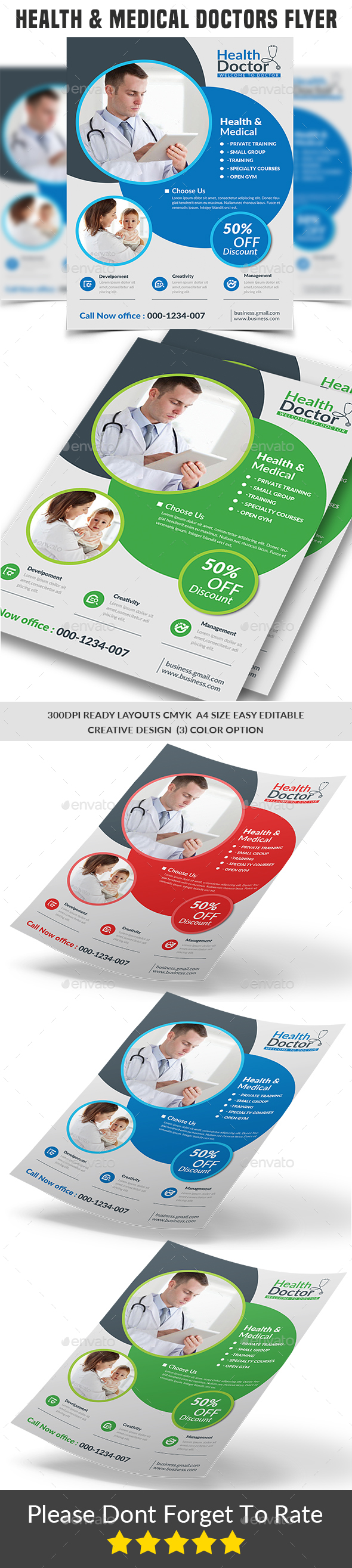 GraphicRiver Health & Medical Doctors Flyer 21178359