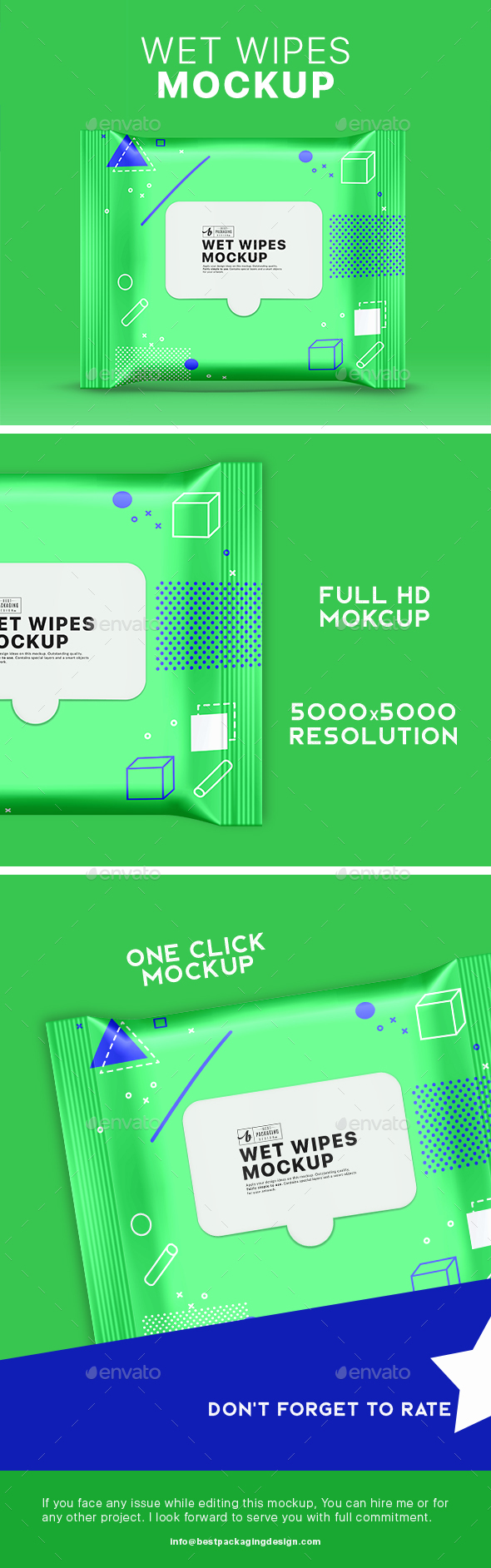 GraphicRiver Cosmetic Wet Wipes Mockup 21178482