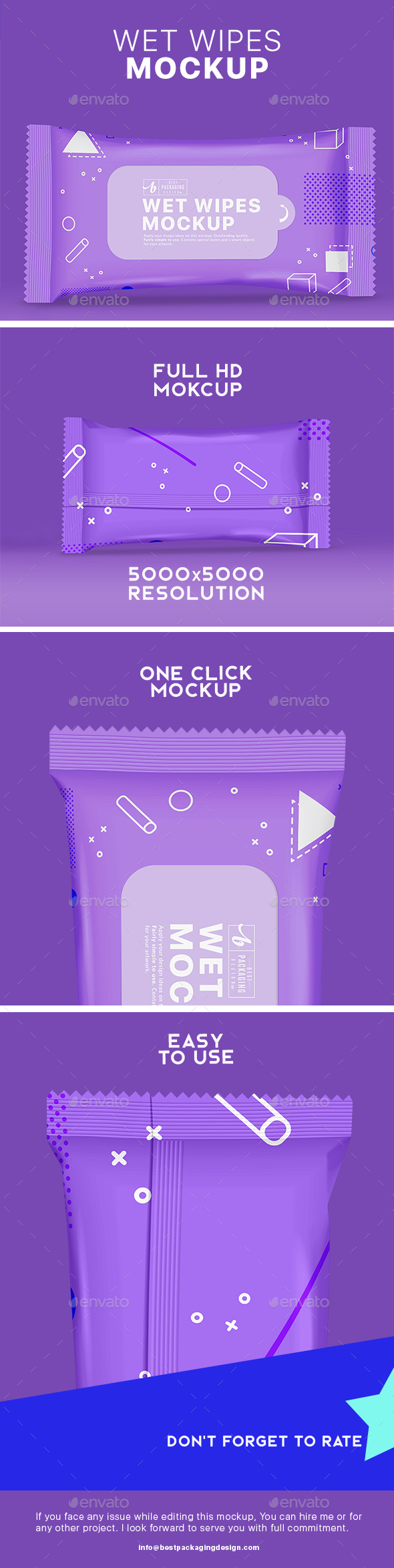 GraphicRiver Wet Wipes Mock-Up 21178584