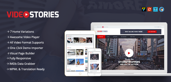 VideoStories – WordPress Video Theme - Blog / Magazine WordPress