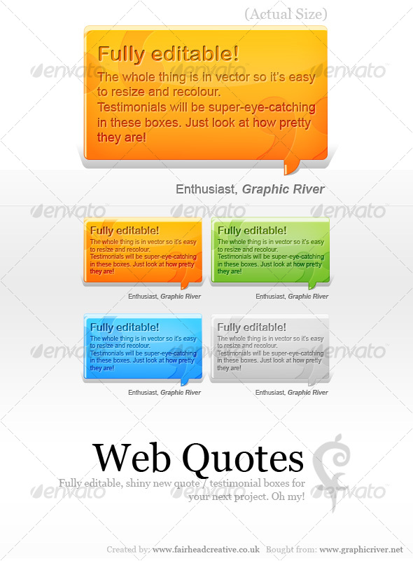 Web Quotes - Web Elements