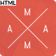 Mama - Creative, Minimal, Responsive Portfolio HTML5 Template - ThemeForest Item for Sale