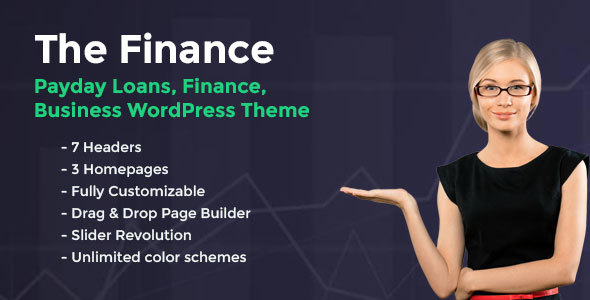 The Finance - Payday Loans, Finance and Business WordPress Theme