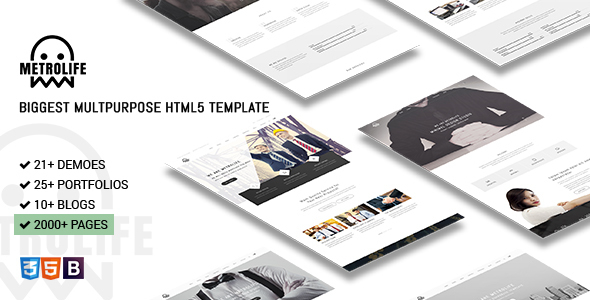 Metrolife - Responsive Multipurpose HTML5 Template - Corporate Site Templates
