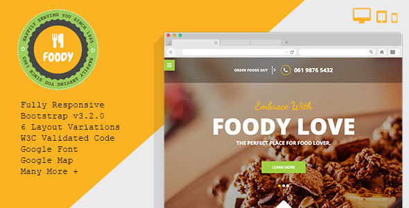Foody – Responsive Restaurant HTML5 Template - Food Retail