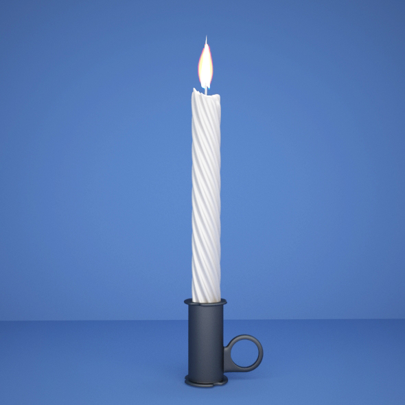 Candle design - 3DOcean Item for Sale