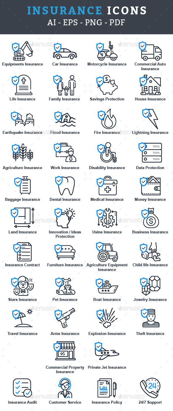 GraphicRiver Insurance Icons 21178874