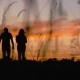 Silhouette of Walking Couple - VideoHive Item for Sale