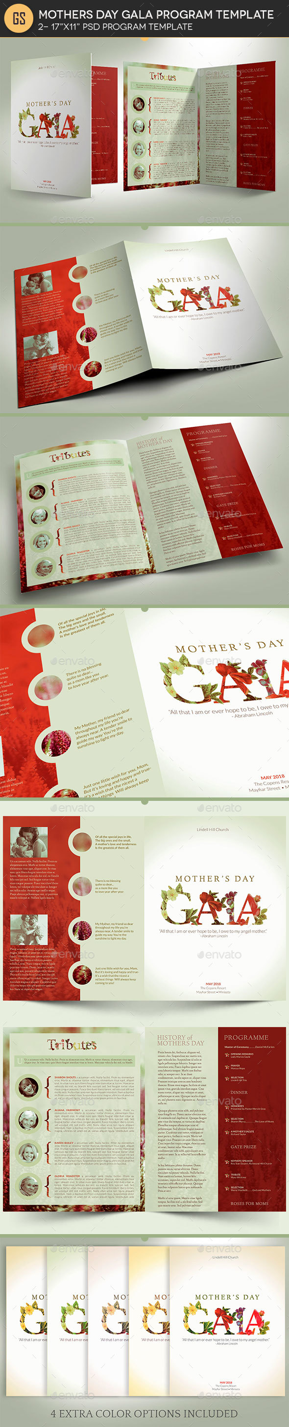 Mothers Gala Program Template - Informational Brochures