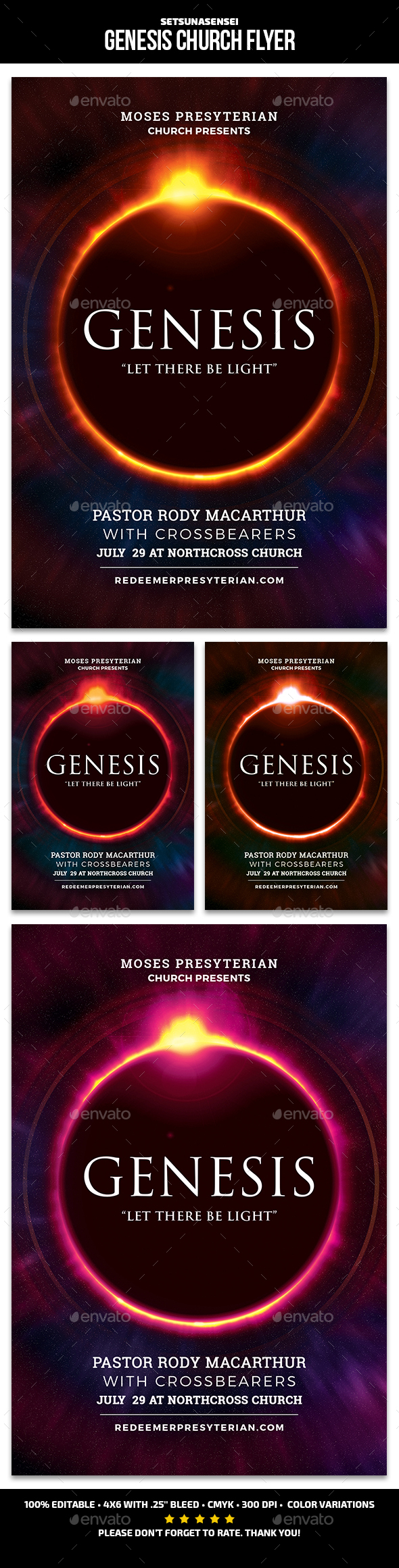 GraphicRiver Genesis Church Flyer 21179171