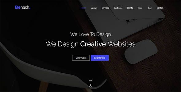 Behash - Multi Purpose Parallax Landing Page