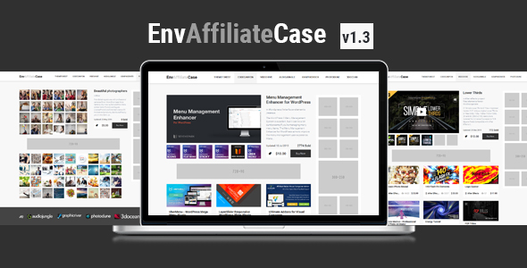 EnvAffiliateCase | Envato Market Affiliate and Item Showcase Plugin - CodeCanyon Item for Sale
