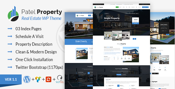 Patel - Single Property Real Estate WordPress Theme