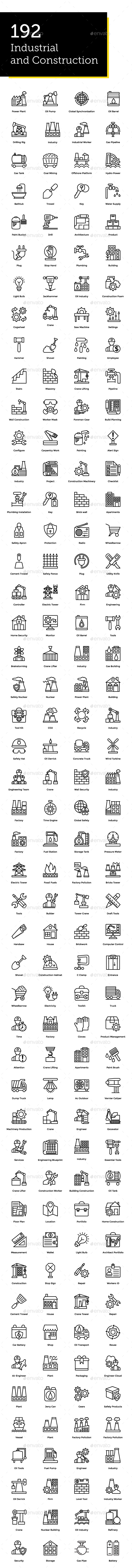 GraphicRiver 192 Industrial and Construction Icon 21179728