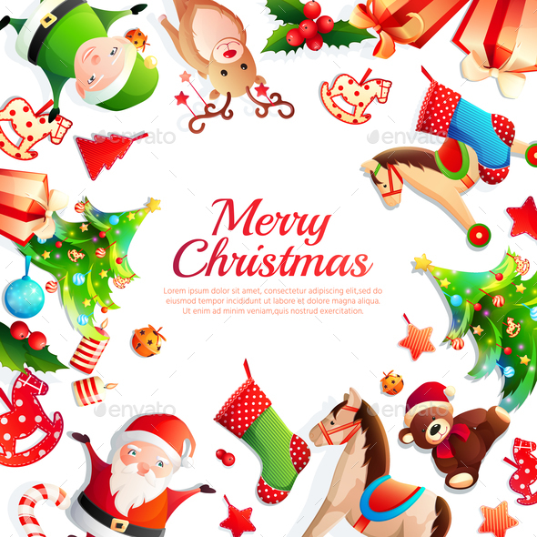 GraphicRiver Merry Christmas Cartoon Frame 21179802