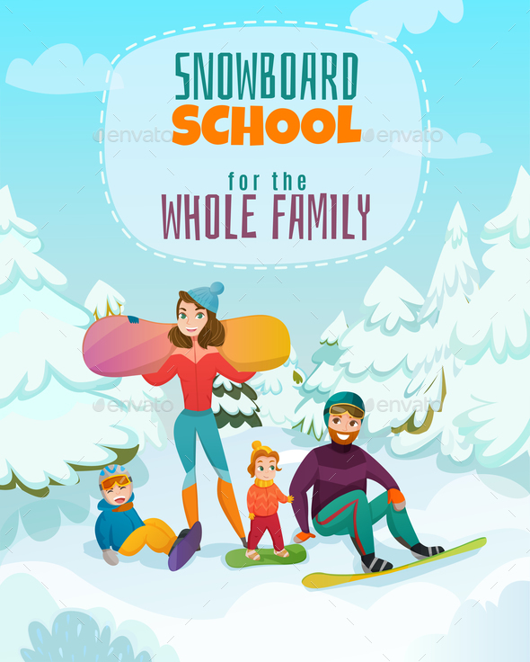 GraphicRiver Snowboard School Illustration 21179848
