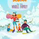 Snowboard School Illustration