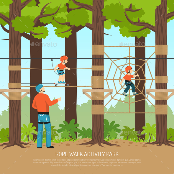 GraphicRiver Rope Walk Park Background 21179899