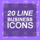 20 Line Business Icons