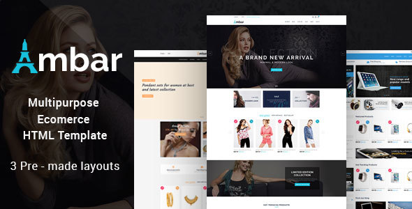Ambar - Responsive Multipurpose E-Commerce HTML5 Template - Retail Site Templates