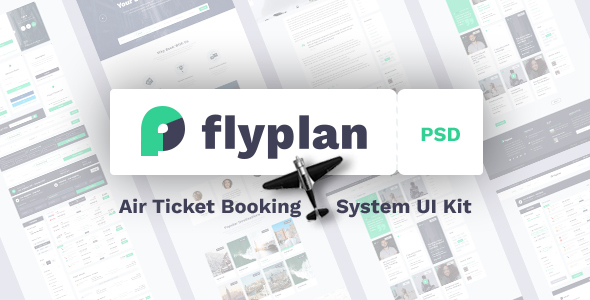 FlyPlan - Air Ticket Booking System PSD Kit - Business Corporate