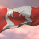 Flag of Canada Waving at Sunset - VideoHive Item for Sale