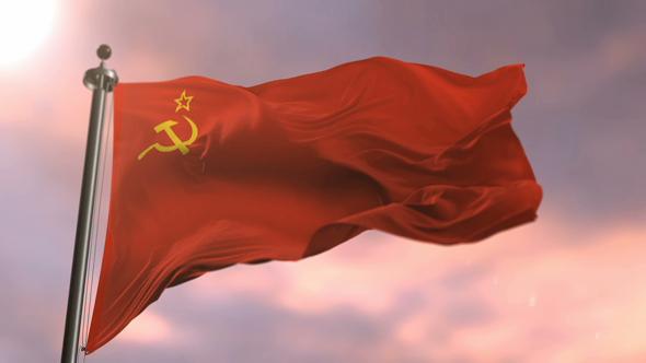 VideoHive Soviet Union Flag Waving 21180103