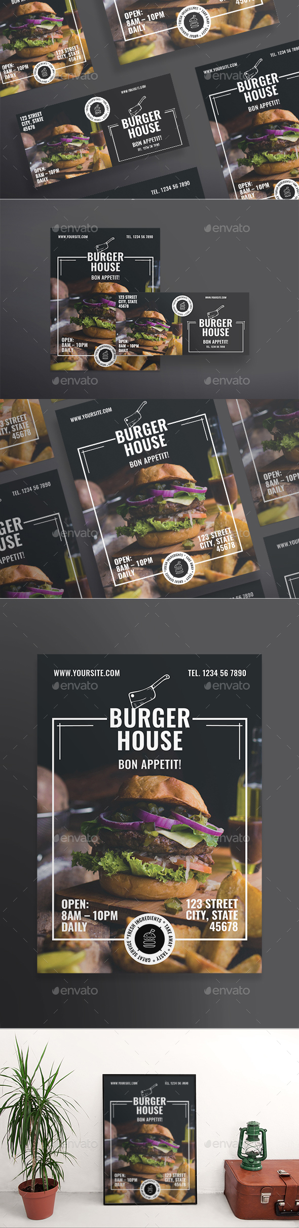 Burger House Flyers - Restaurant Flyers