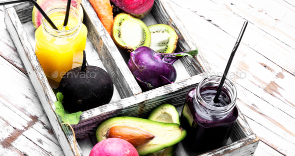 healthy eating and drinks - Stock Photo - Images