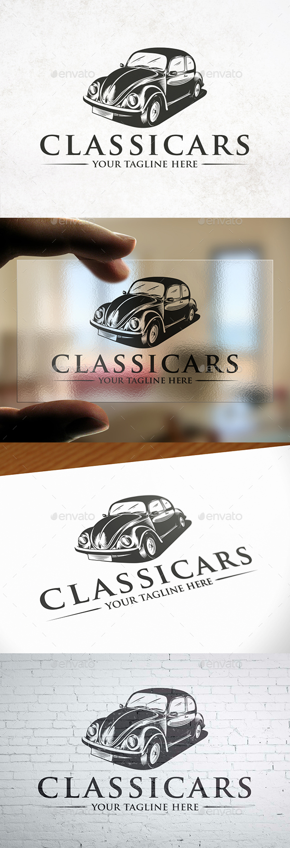Classic Car Logo Template - Objects Logo Templates