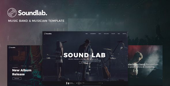 Soundlab - Music Band & Musician Template - Music and Bands Entertainment