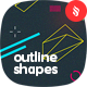 Outline Geometric Shapes Backgrounds