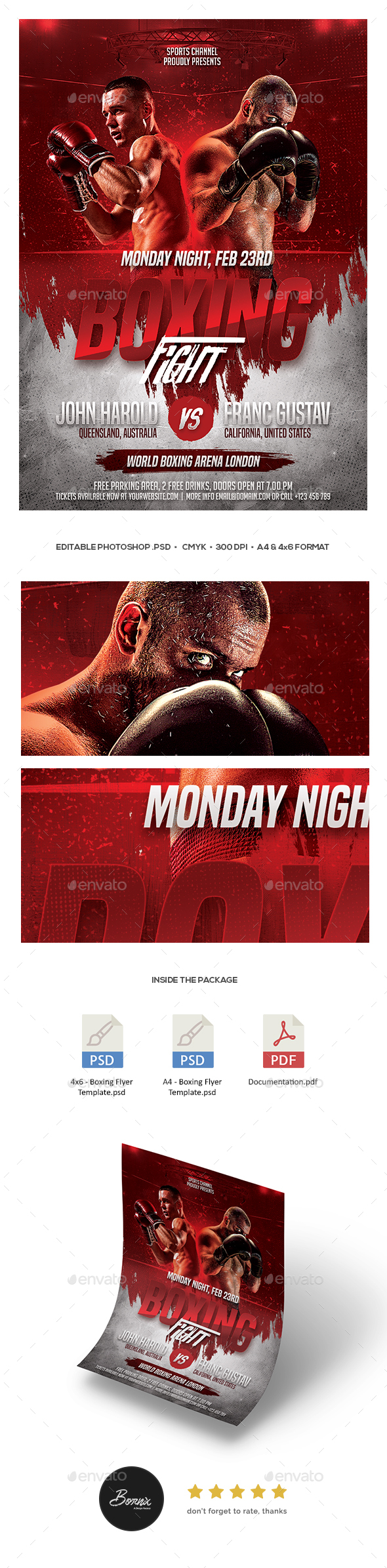 GraphicRiver Boxing Flyer 21180504