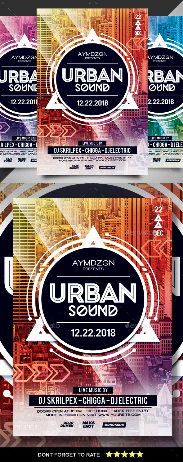 GraphicRiver Urban Sound Flyer 21180711
