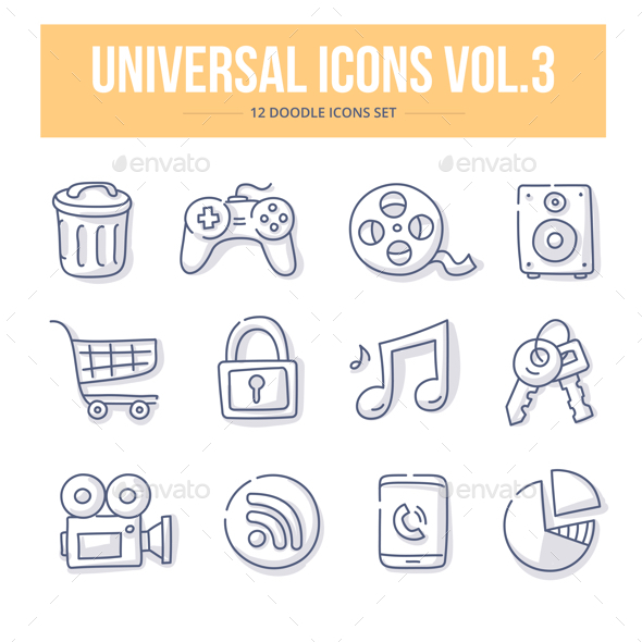 GraphicRiver Universal Doodle Icons vol.3 21180713