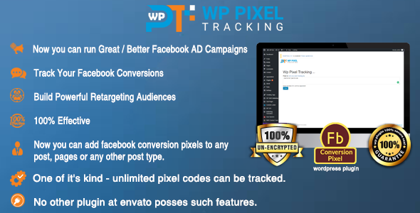 Wordpress Retargeting Facebook Pixel Tracking Plugin - CodeCanyon Item for Sale