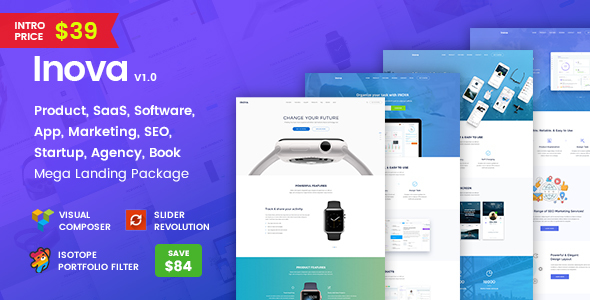Download Inova - Multi-concept Landing Page Combo WordPress Theme With RTL            nulled nulled version