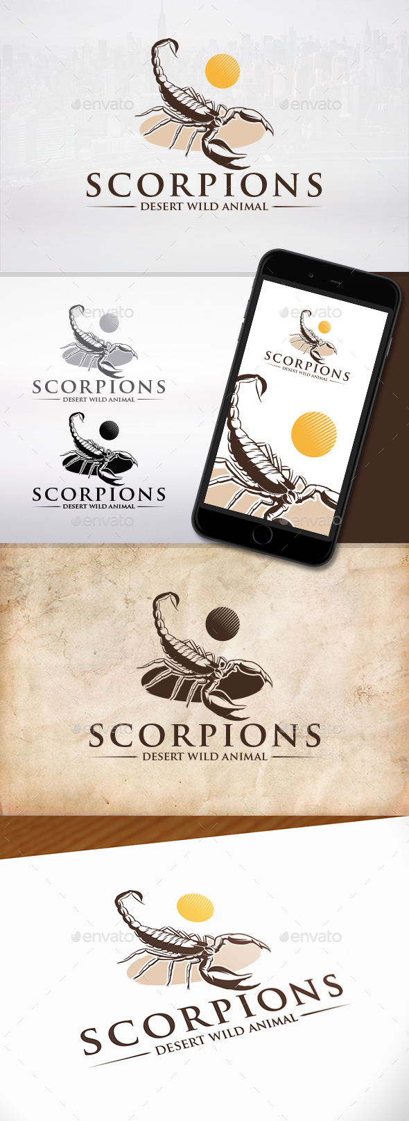 GraphicRiver Scorpion Logo Template 21180973