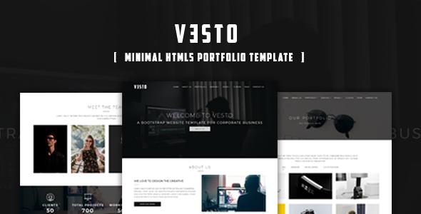 Vesto-Minimal Portfolio Template - Portfolio Creative
