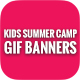 Animated GIF Kids Summer Camp Banners Ads