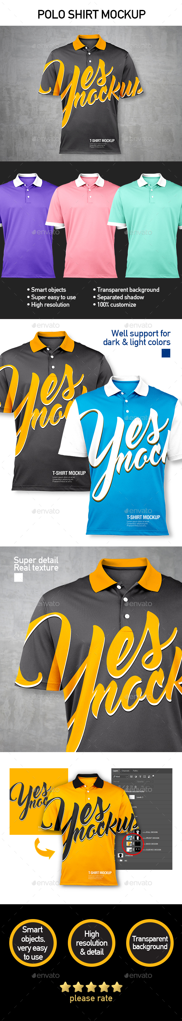 GraphicRiver Polo Shirt Mockup 21181430