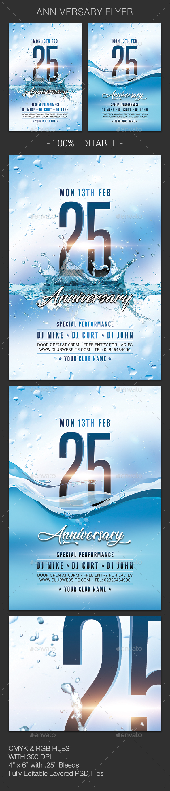 GraphicRiver Anniversary Flyer 21181498