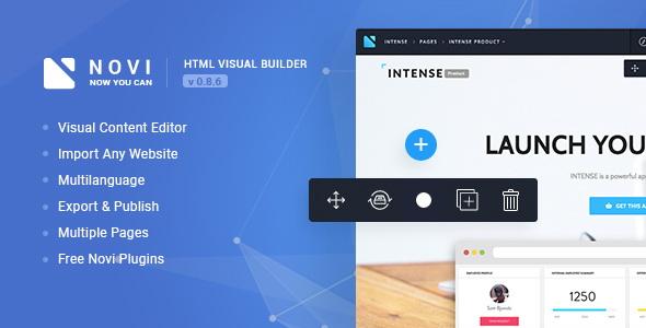 Novi - HTML Page Builder & Visual Content Editor Best Scripts